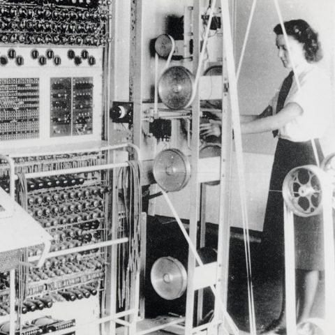 Female codebreakers working on the Colossus Computer